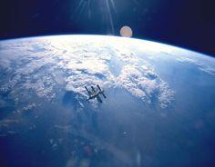 powierzchnia Ziemi widoczna z kosmosu