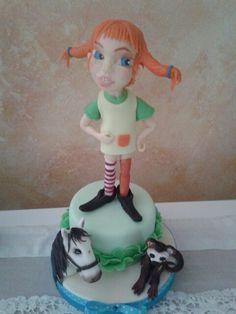 Pippicalzelunghe, cavallo e scimmietta. Cake topper.pasta di zucchero