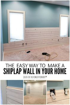 home accents rustic Love the look of white washed wood plank accent walls Learn how to make a DIY shiplap wall to add rustic farmhouse style to your master bedroom, living room, bathroom, or any room! Farmhouse Master Bedroom, Master Bedroom Makeover, Master Bedrooms, White Shiplap Wall, White Plank Walls, Accent Walls In Living Room, Bedroom Accent Walls, Wood Accent Walls, Bathroom Accent Wall