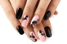 Abstract Floral Manicure