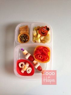 Fall Kabob :: Halloween Lunch Bento