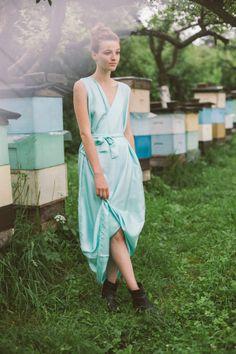 Silk dress www.boho.lu