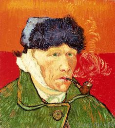 Vincent van Gogh - Self Portrait with Bandaged Ear and Pipe, 1889