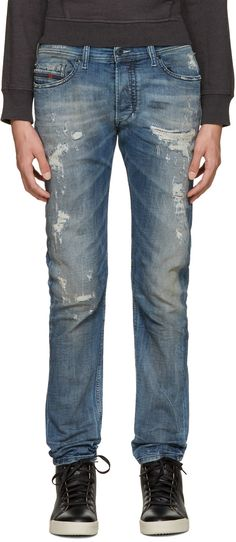 Diesel - Blue Distressed Tepphar Jeans