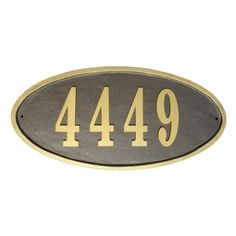 Have to have it. QualArc Claremont Oval Address Plaque - $89.99 @hayneedle.com