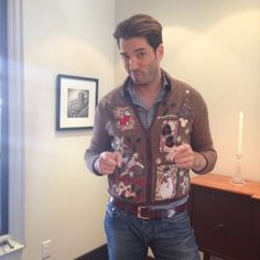Jonathan Scott in a Christmas Sweater