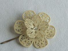 Vintage plastic filigree bobby pin
