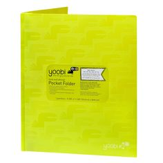 Twin pockets, plus three prongs in the center for extra hole punched papers, keep all of your papers safe and sound. A sturdy poly cover provides protection-and, in one of our vibrant colors with an embossed toucan print, quite a bit of style.
