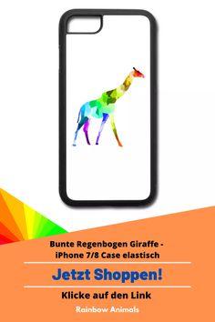 Kaufe dir jetzt diese Handyhülle für dein iPhone 7/8. Lass dir dieses und weitere Tier-Zeichnungen auf deine Accessoires drucken   Schau jetzt in unserem Shop vorbei! Klicke jetzt auf den Link! #Handyhülle #Accessoires #Stile #iPhone8 #iPhone7#Spreadshirt #Giraffe #Rainbowanimals #Handy #Smartphone