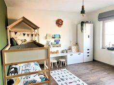 Baby Bedroom, Baby Boy Rooms, Kids Bedroom, Chambre Nolan, Girl Bedroom Designs, Kids Room Design, Kid Beds, Home Decor, Ikea Kura Bed