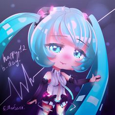 Happy 12th anniversary, Hatsune Miku, Even I am already for 3 years, if not more, don't look after news, I still can't leave it fully xd,… Cute Anime Chibi, Kawaii Anime, Cute Kawaii Drawings, Dibujos Cute, Cartoon Crossovers, Anime Life, Life Drawing, Hatsune Miku, Anime Manga