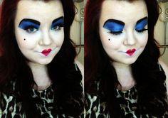 Disney's Queen of Hearts makeup