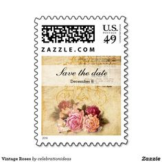 Sold #Vintage #Roses #Stamp Available in different products. Check more at www.zazzle.com/celebrationideas