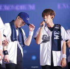 Xiumin e Baekhyun EXO'rDIUM