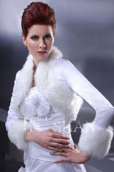 White/Ivory Winter Fur Bridal Wedding Wrap Jacket,MJ01 | eBay