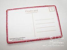 Postcard backing design - Linda Matthews: Textile Art & Design
