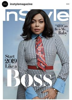 """What Men Want"" and ""Empire"" star Taraji P. Henson covers the January 2019 issue of InStyle magazine photographed by Robbie Fimmano and styled by Julia Instyle Magazine, Cosmopolitan Magazine, Tapas, Valentino Resort, Taraji P Henson, What Men Want, Jennifer Fisher, Black Models, Celebrity Look"