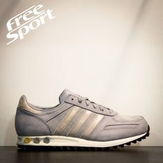 san francisco ce38b ec5cb Adidas Trainer Grigia In Pelle D65662 - Free Sport