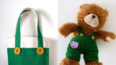 Corduroy Bear tote, this and the bear and book would make a great baby gift, you could also adapt this for Mickey Mouse