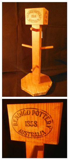 Bendigo Pottery Mug Tree $10 Mug Tree, Pottery Mugs, Kitchen, Cuisine, Ceramic Cups, Cooking, Home Kitchens, Kitchens, Cucina