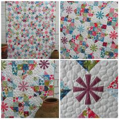 I love this quilt--cute combo of shapes.  flossyblossy: FQ - Issue 7