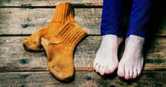 Are Cold Purple Feet Caused by Bad Circulation? Bad Circulation, Cold Feet, Medical Problems, Leg Warmers, Fingerless Gloves, Barefoot, Purple, Socks, Wellness