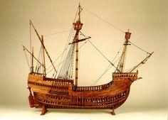 Reconstrucciones Históricas. Armada Española - Ministerio de Defensa - Gobierno de España. Modelo de una carraca veneciana. S. XVI