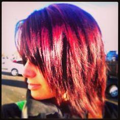 The sun makes my hair turn crazy colors!!!