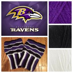 bdab1b86ae Baltimore Ravens boot cuffs football crochet by KnotableKnits Crochet Boot  Cuffs