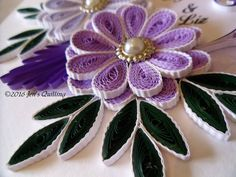 #quilling, #quilledflowers #Jen'sQuilling