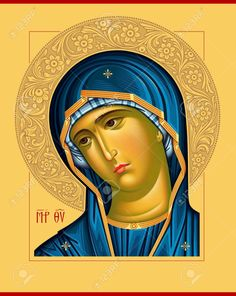Virgin Oplechnaya_blue5 raster Raster illustration, art numérique Banque d'images - 23269018 Spiritual Paintings, Religious Paintings, Religious Icons, Religious Art, Christian Images, Russian Icons, Blessed Mother Mary, Byzantine Icons, Holy Mary