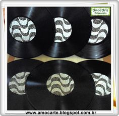Disco de vinil - supla http://www.amocarte.blogspot.com.br/