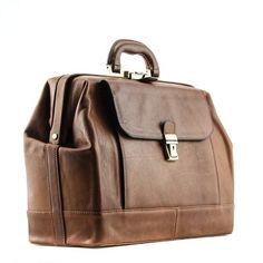 Alberto Bellucci - Bernini Grande Exclusive Leather Doctor Bag - side angle