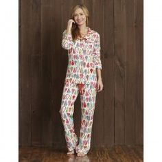 "Hatley Nature Women's ""Harvest Pears"" Cotton Jersy Pajama Set $88 - SHOP https://www.thepajamacompany.com/store/hatley-nature-women-s-hens-and-chicks-cotton-jersey-pajama-set.html?category_id=255"