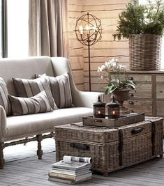 I love the wooden trunk as a coffee table. So original Artwood...bureauofjewels/etsy and facebook...XXX