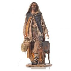 Shepherd with lamb 30cm Angela Tripi | online sales on HOLYART.co.uk