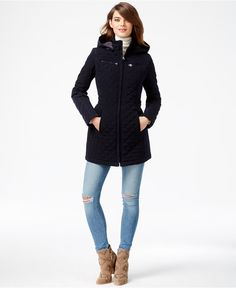Vince Camuto Faux Suede Trim Quilted Barn Jacket Coats Women Macy S School