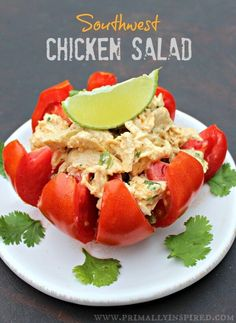 This southwest chicken salad makes the perfect easy and nutritious lunch! Make a big batch and eat it all throughout the week.