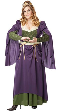 Lady In Waiting Womens Plus Size Costume