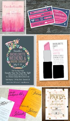 fun and girly bachelorette invitations