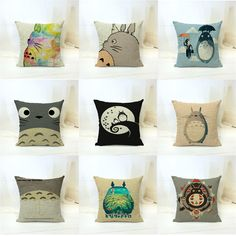 Aliexpress.com : Buy Ikea Linen Pillow Case Decorative Chinchilla funda cojin Anime My Neighbor Totoro cushion cover pattern capa de almofada 45x45cm from Reliable case samsung galaxy mini suppliers on You Perfect  | Alibaba Group