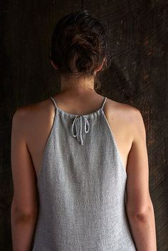 Ravelry: Drawstring Camisole pattern by Purl Soho This but sewn instead of knit Ravelry, Crochet Summer Tops, Knit Crochet, Knitting Patterns Free, Knit Patterns, Camisole, Purl Bee, Purl Soho, Summer Sweaters