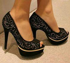 Black beautiful shoes...