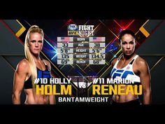 Fight Night Chicago Free Fight: Holly Holm vs Marion Reneau