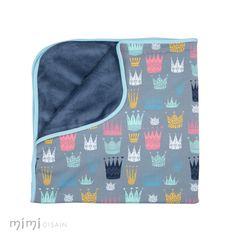 Mimi Baby Blanket Crown Blue