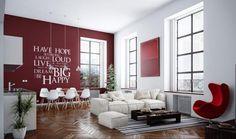salon-studio-moderne-bordeaux-blanc-déco-inscriptions