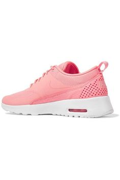 Nike - Air Max Thea Croc-effect Leather-trimmed Coated Mesh Sneakers - Coral - US