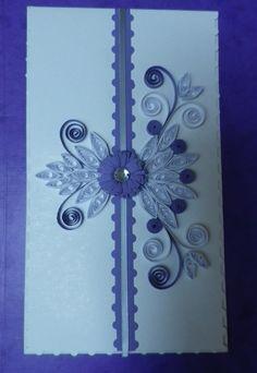 carte de voeux  en relief quilling papier plié