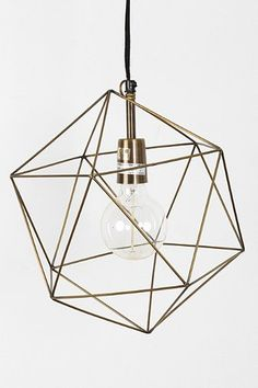 Magical Thinking Geo Pendant // Modern fixtures for the living room Home Lighting, Lighting Design, Pendant Lighting, Wire Pendant, Lighting Ideas, Bedroom Lighting, Pendant Lamps, Light Pendant, Funky Lighting