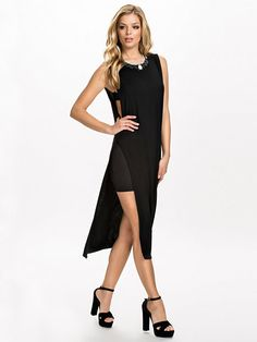 Overlay Detail Dress - Club L Essentials - Black - Party Dresses - Clothing - Women - Nelly.com Uk